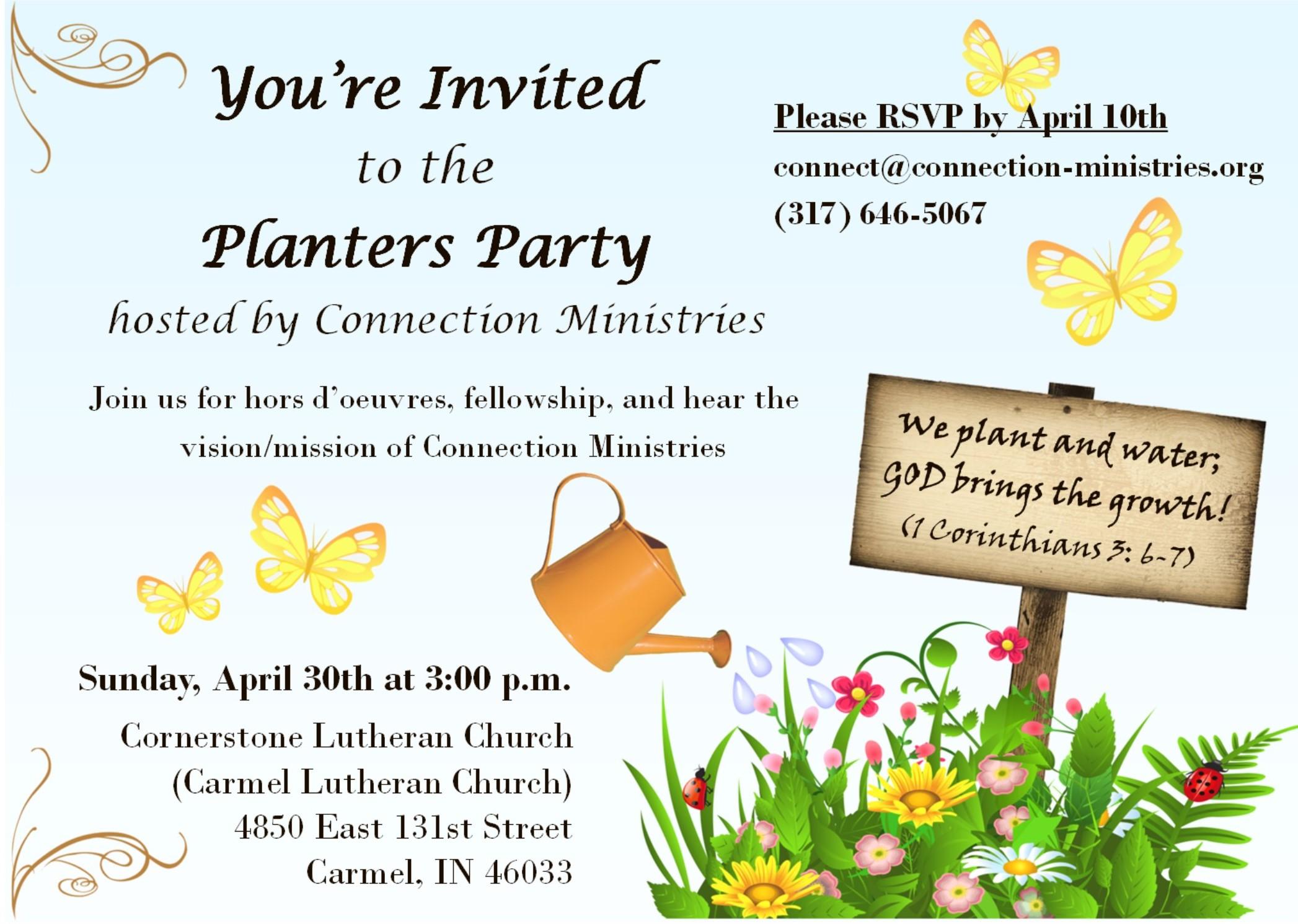 Planter's Party Invitation
